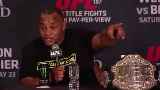 UFC 192: Ryan Bader Confronts Daniel Cormier at Press Conference