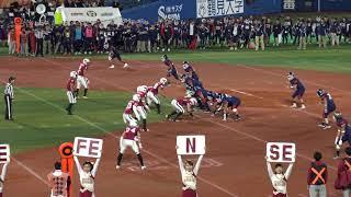 2017年関東学生アメリカンフットボールTOP8早稲田大学対慶応義塾大学