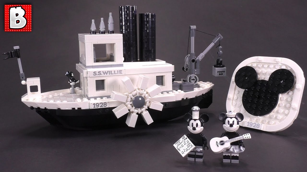 Steamboat Willie LEGO Ideas Set Review 21317