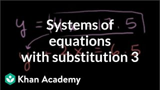 Solving systems by substitution 2