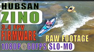 Hubsan Zino 3.4 FPV Firmware update review in 1080P@60fps Slow Motion RAW footage v2