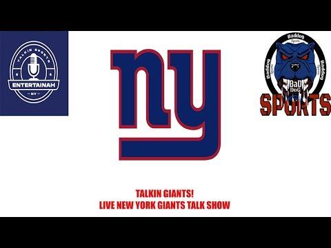 Talkin Giants! Live New York Giants Talk Show With Baddog Sports!