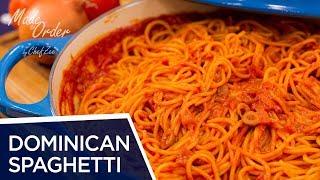 Dominican Spaghetti | Espaguetis Dominicano | Dominican Recipes | Made To Order | Chef Zee Cooks