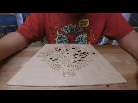 Plywood laser cutting and making a nice piece of art using 10 watt Endurance laser