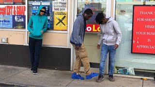 STEPPING ON JORDANS IN THE HOOD | SOCIAL EXPERIMENT