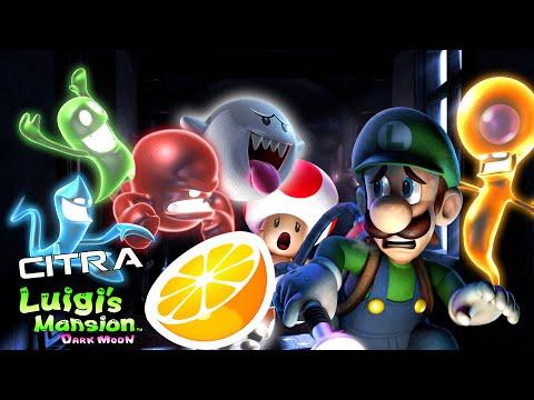 Citra 3DS Emulator - Luigi's Mansion Dark Moon Ingame / Gameplay 4k