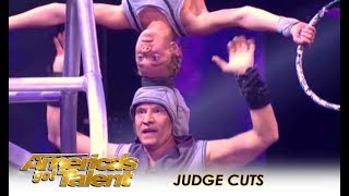 Sergey & Sasha: This Father and Daughter Bond Through EXTREME DANGER! | America's Got Talent 2018