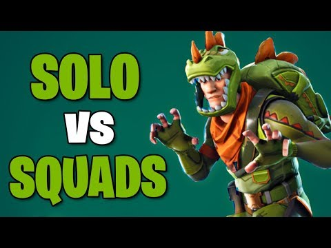 INFIERNO EN SOLO VS SQUADS !! - Fortnite: Battle Royale