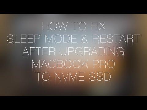 How to fix SLEEP MODE & RESTART after upgrading Macbook Pro