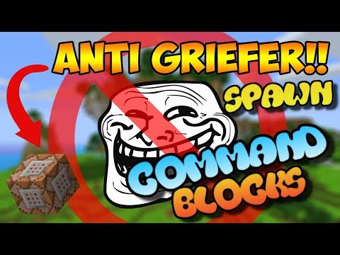 Minecraft Bedrock Edition Command Block Spawn Grief Protection Tutorial (XBOX ONE/MCPE/WINDOWS 10)