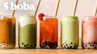 BOBA 5 Ways! Favorite BOBA / BUBBLE TEA Recipes You Gotta Try
