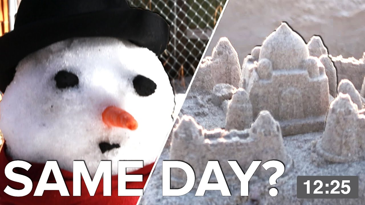 We Built A Snowman And A Sandcastle In The Same Day thumbnail