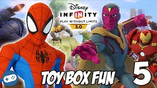 Avengers Infinity War Disney Infinity Toy Box Fun Gameplay Part 5 With Spiderman And Vision