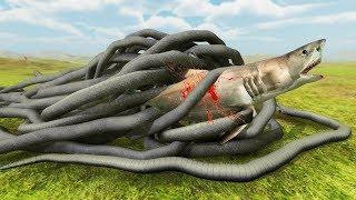 GIANT SNAKE vs SHARK - Beast Battle Simulator
