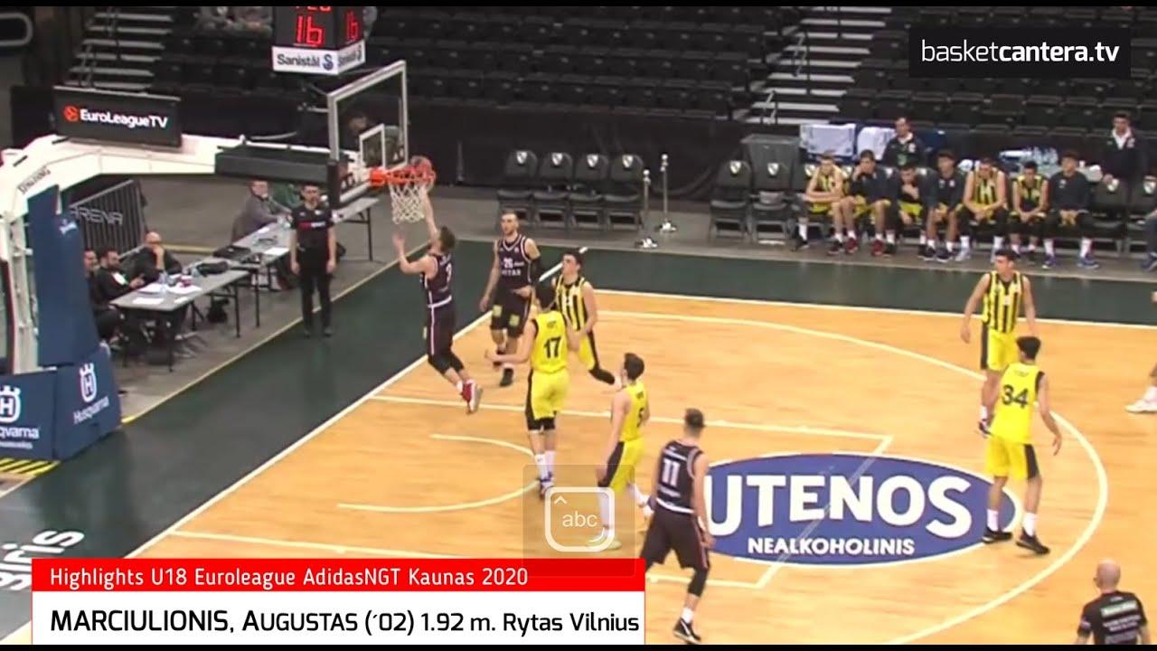 A. MARCIULIONIS (´02) 1.92 m. Rytas Vilnius Lituania. Quinteto Ideal Euroleague AdidasNGT. Kaunas-20