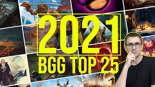 Vorschau: Die Top 25 Brettspiele 2021 - die besten / interessantesten Spiele laut Boardgamegeek