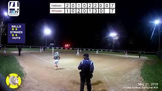 Girls Softball Sectional #34(Winamac) Hebron vs Wheeler