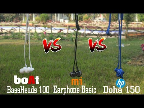 (Comparison) Mi basic vs boAt 100 vs Hp doha 150 | Sound Test | Dekh Review (Hindi/Urdu)
