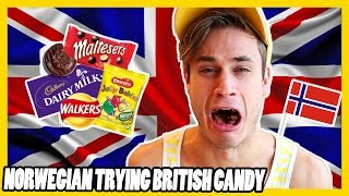 Norwegian Trying BRITISH Candy