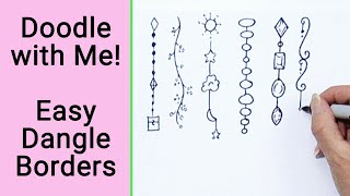 9 Easy Dangle Borders - Doodle With Me