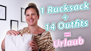 14 Outfits in einem Rucksack | So verreist du mit wenig Gepäck