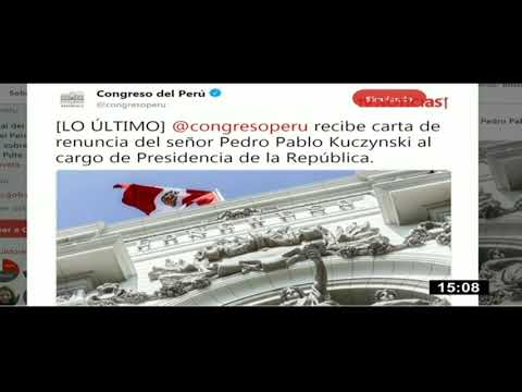 Congreso recibe carta de renuncia del presidente Kuczynski