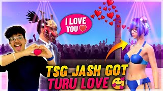 Free Fire - TSG JASH GOT TURU LOVE ❤️ ( GIRL FRIEND) ? IN RANDOM CUSTOM ROOM ON FACTORY ROOF - TSG