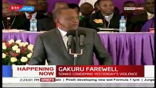 President Uhuru Kenyatta eulogizes the late Governor Wahome Gakuru- full speech
