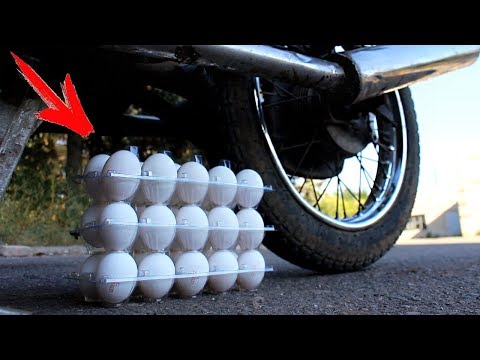 EXPERIMENT: MOTORCYCLE VS EGGS