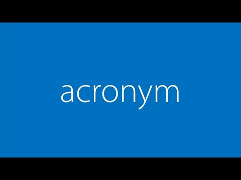Word of the Day - acronym
