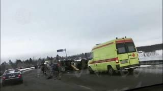 Жёсткое ДТП Сургут-Нефтеюганск и утро после ДТП с автобусом