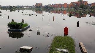 Melihat Banjir di TPU Semper yang Rendam Ribuan Makam