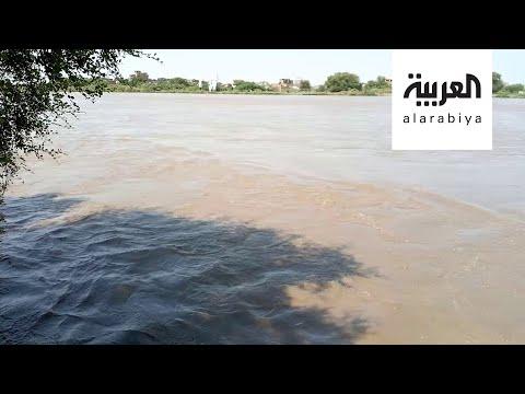 العرب اليوم - شاهد: لقطات مُثيرة تظهر ارتفاع منسوب النيل الأزرق في السودان
