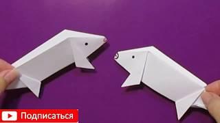 Оригами игрушки СВИНКА своими руками/просто порося бумага мастер класс/простые поделки деткам