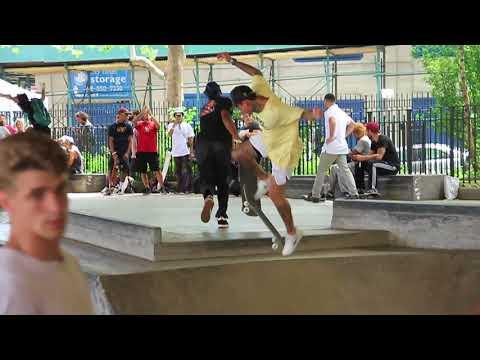 nyjah huston go skate day nyc 2018 raw clips