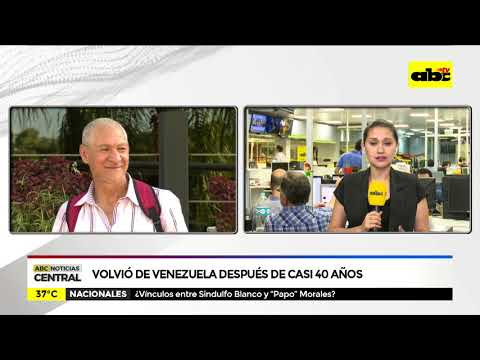 Volvió de Venezuela después de casi 40 años