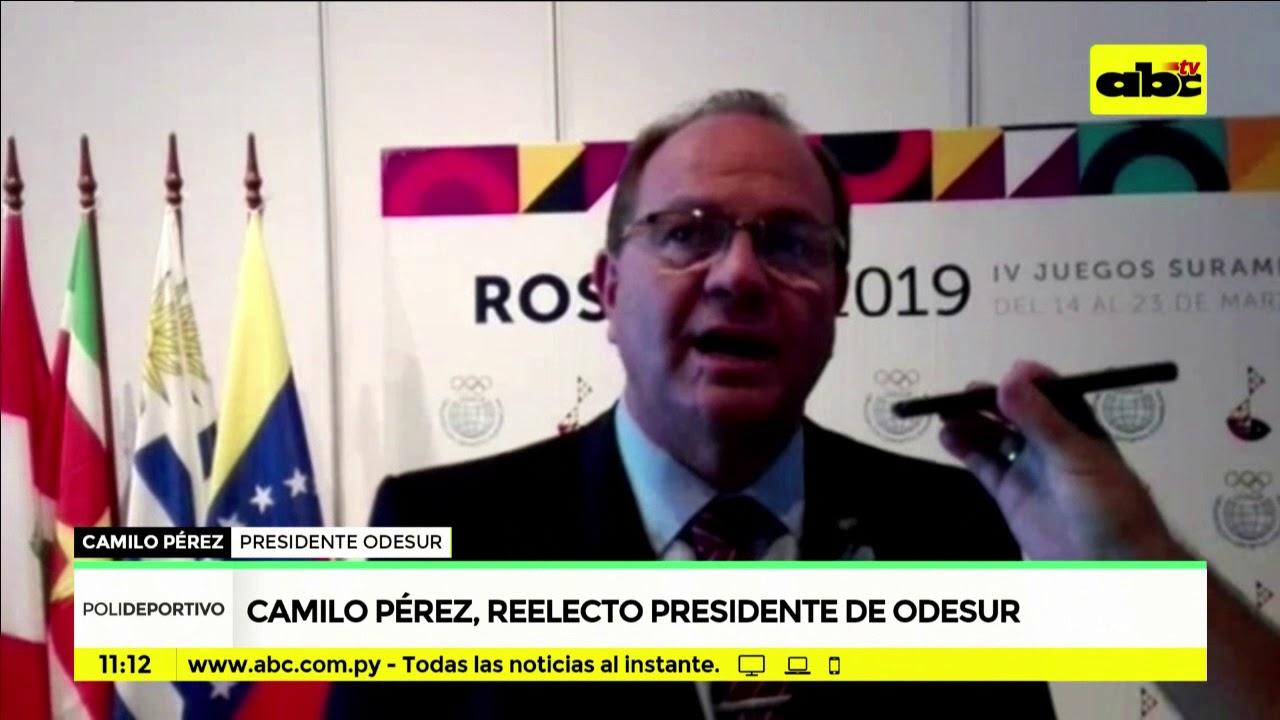 Camilo Pérez, reelecto presidente de Odesur