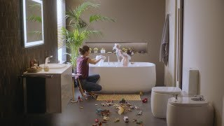 Фото Мебель для ванной комнаты Roca Beyond 7851391806 120 см., белая, подвесная, с раковиной слева 3