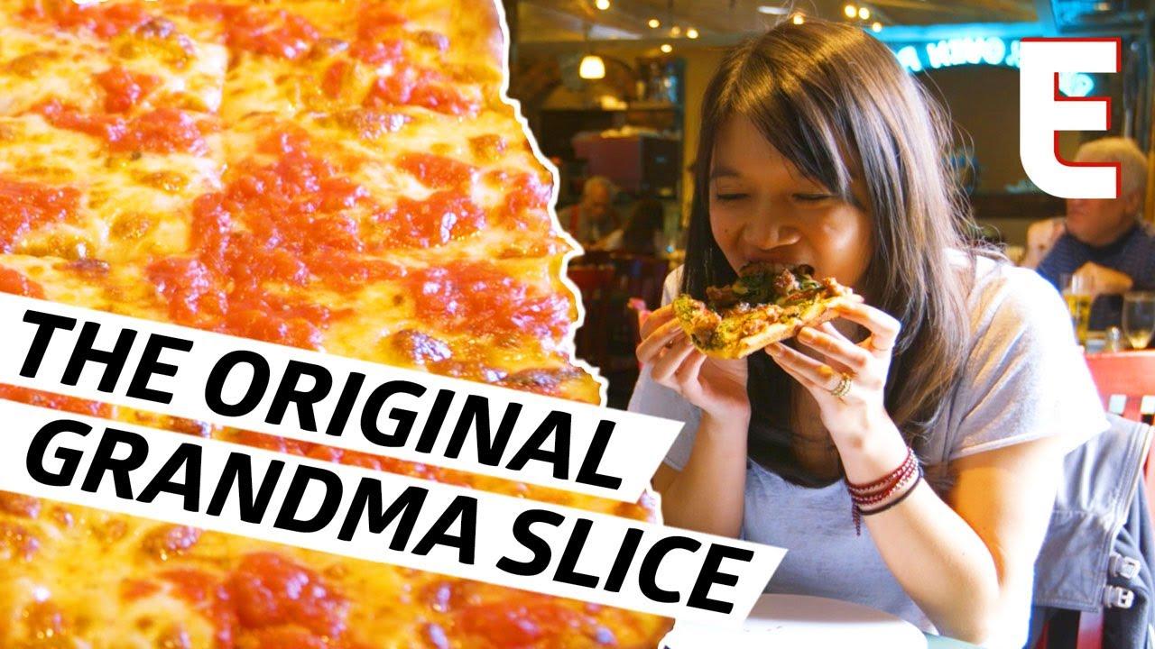 Crustless Pizza At Umberto's The Inventors Of The Grandma Slice — Cult Following thumbnail