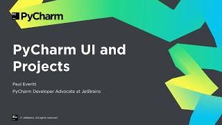 Getting Started with PyCharm 2/8: PyCharm UI and Projects