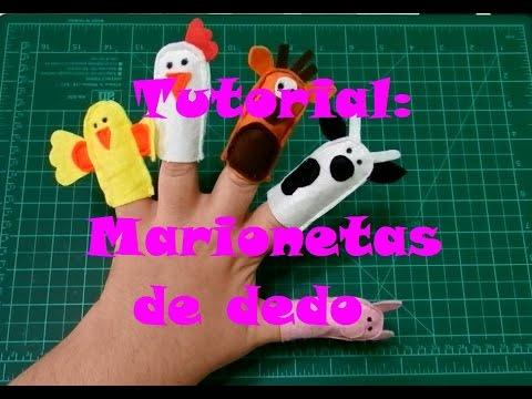 Tutorial: Marionetas de dedo - Libro Sensorial/Quiet Book