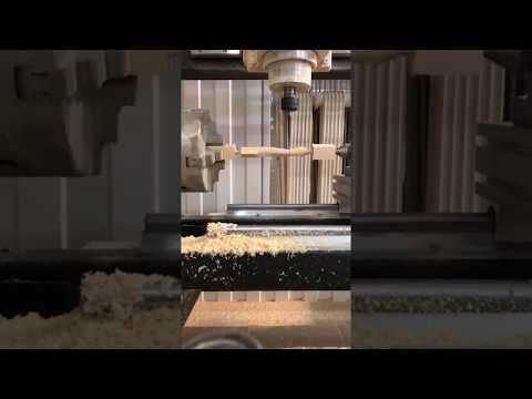 Изготовление балясины на токарно-фрезерном ЧПУ Моделист-130TS-4X