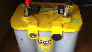 HOW TO REGENERATE AND RECHARGE A DEEPLY DISCHARGED OPTIMA GEL BATTERY PART:2