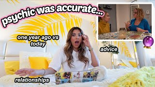 REACTING TO MY PSYCHIC READING ONE YEAR LATER