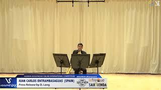 Juan Carlos ENTRAMBASAGUAS plays Press Release by D. Lang #adolphesax