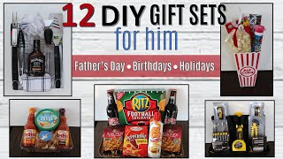 12 Gift Basket Ideas FOR HIM | ⭐FATHERS DAY GIFTS 2020⭐ | Dollar Tree & Walmart