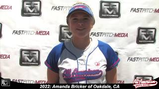 2022 Amanda Bricker Middle Infielder, Third Base and Pitcher Softball Skills Video - AASA Macias