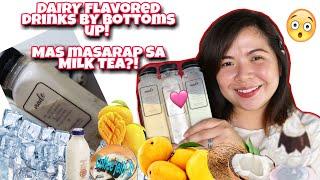 BOTTOMS UP DAIRY FLAVORED DRINKS! BETTER THAN MILK TEA? Mango Tapioca, Coffee Jelly & Buko Pandan!