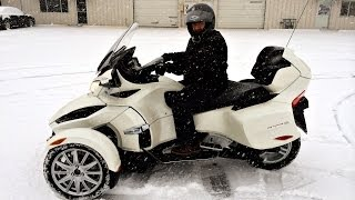 Can-Am Spyder in the Snow? - Watch This!