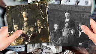 Сложная реставрация сильно поврежденного фото (ускоренное видео) Реставрация фотографии. фото